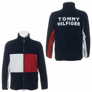 トミー ヒルフィガー ゴルフ メンズ 生地切替 フリース 長袖 フルジップ ジャケット THMA181 2021年モデル 詳細3