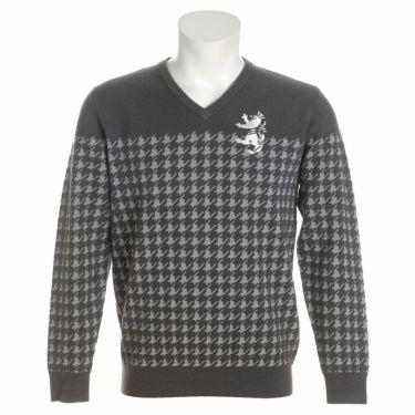 アドミラル Admiral メンズ 千鳥柄 ジャガード 長袖 Vネック セーター ADMA1A7 2021年モデル グレー(19)