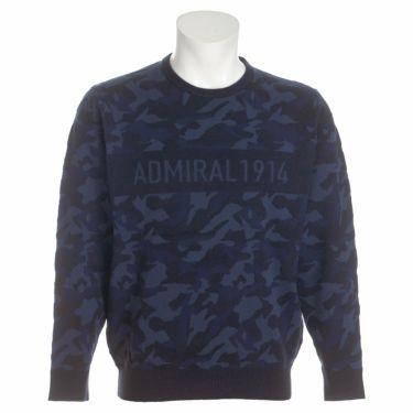 アドミラル Admiral メンズ カモ柄 ジャガード 長袖 クルーネック セーター ADMA1B1 2021年モデル ネイビー(30)