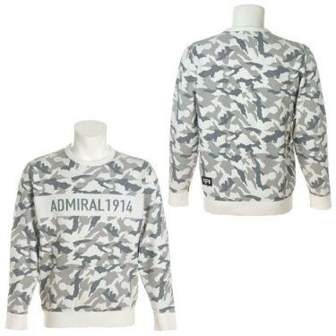 アドミラル Admiral メンズ カモ柄 ジャガード 長袖 クルーネック セーター ADMA1B1 2021年モデル 詳細3