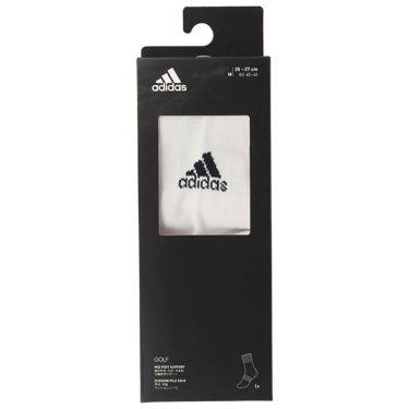 アディダス adidas メンズ 箱入り ベーシック クルー ソックス GUX53 FM3131 ホワイト/ブラック 詳細2