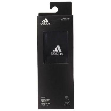アディダス adidas メンズ 箱入り ベーシック クルー ソックス GUX53 FM3132 ブラック/ホワイト 詳細2