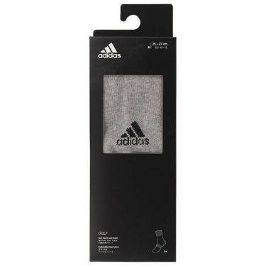 アディダス adidas メンズ 箱入り ベーシック クルー ソックス GUX53 FM3133 グレイヘザー/ブラック 詳細2
