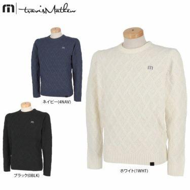 トラヴィスマシュー Travis Mathew メンズ 格子柄 ケーブル編み ウール混 長袖 クルーネック セーター 7AE020 2021年モデル 詳細1
