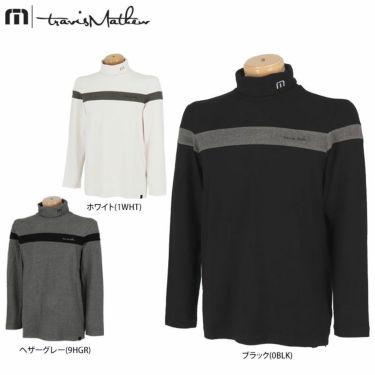 トラヴィスマシュー Travis Mathew メンズ ライン配色 起毛素材 長袖 タートルネックシャツ 7AE026 2021年モデル 詳細1