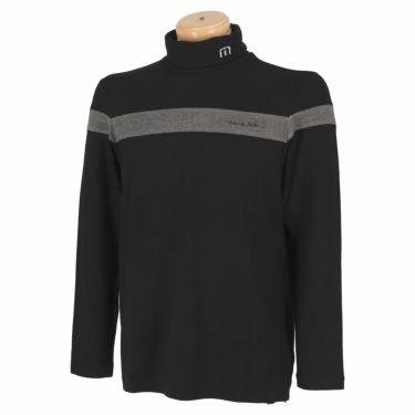 トラヴィスマシュー Travis Mathew メンズ ライン配色 起毛素材 長袖 タートルネックシャツ 7AE026 2021年モデル ブラック(0BLK)