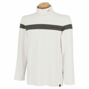 トラヴィスマシュー Travis Mathew メンズ ライン配色 起毛素材 長袖 タートルネックシャツ 7AE026 2021年モデル ホワイト(1WHT)