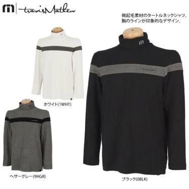 トラヴィスマシュー Travis Mathew メンズ ライン配色 起毛素材 長袖 タートルネックシャツ 7AE026 2021年モデル 詳細2