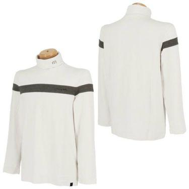 トラヴィスマシュー Travis Mathew メンズ ライン配色 起毛素材 長袖 タートルネックシャツ 7AE026 2021年モデル 詳細3