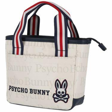 サイコバニー PsychoBunny ロゴプリント ラウンドバッグ PBMG1FB4 00 ホワイト 2021年モデル ホワイト(00)