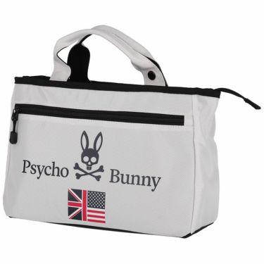 サイコバニー PsychoBunny A/A FLAG SPORT ロゴプリント 保温保冷 ラウンドバッグ PBMG1FB7 00 ホワイト 2021年モデル ホワイト(00)