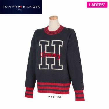 トミー ヒルフィガー ゴルフ レディース ロゴインターシャ 長袖 セーター THLA153 2021年モデル 詳細1