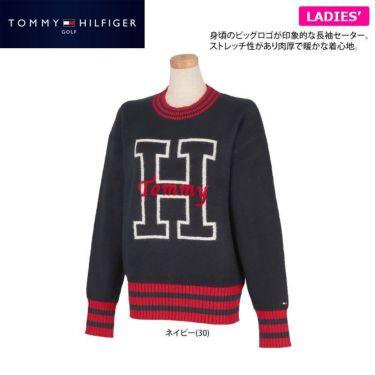 トミー ヒルフィガー ゴルフ レディース ロゴインターシャ 長袖 セーター THLA153 2021年モデル 詳細2