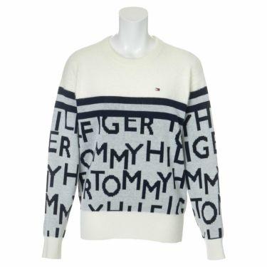 トミー ヒルフィガー ゴルフ レディース ロゴジャカード シャギー 長袖 クルーネック セーター THLA172 2021年モデル ホワイト(00)
