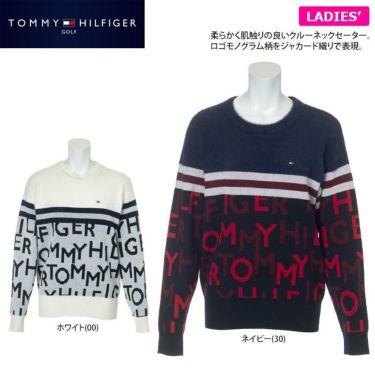 トミー ヒルフィガー ゴルフ レディース ロゴジャカード シャギー 長袖 クルーネック セーター THLA172 2021年モデル 詳細2