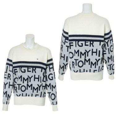 トミー ヒルフィガー ゴルフ レディース ロゴジャカード シャギー 長袖 クルーネック セーター THLA172 2021年モデル 詳細3