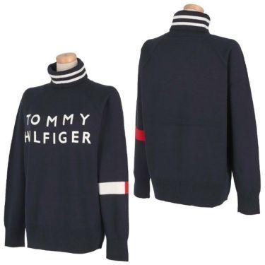 トミー ヒルフィガー ゴルフ レディース ロゴプリント 袖ライン 長袖 タートルネック セーター THLA174 2021年モデル 詳細3