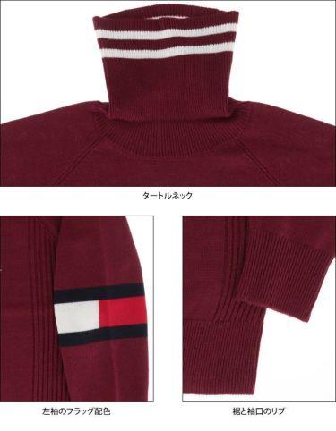 トミー ヒルフィガー ゴルフ レディース ロゴプリント 袖ライン 長袖 タートルネック セーター THLA174 2021年モデル 詳細4