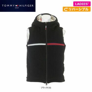 トミー ヒルフィガー ゴルフ レディース マイクロフリース 中綿入り リバーシブル フルジップ ベスト THLA179 2021年モデル 詳細1