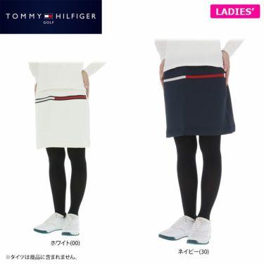トミー ヒルフィガー ゴルフ レディース ロゴプリント ダンボールニット ストレッチ スカート THLA159 2021年モデル 詳細1