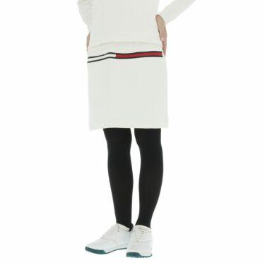 トミー ヒルフィガー ゴルフ レディース ロゴプリント ダンボールニット ストレッチ スカート THLA159 2021年モデル ホワイト(00)