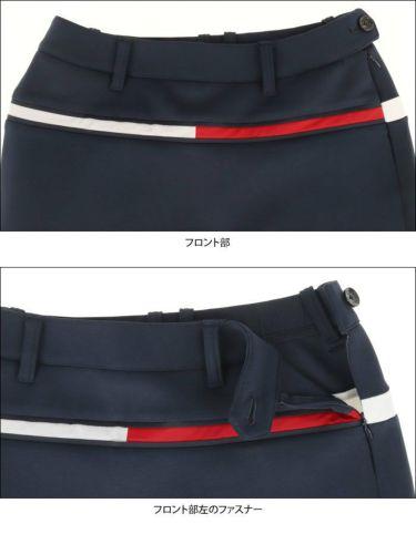 トミー ヒルフィガー ゴルフ レディース ロゴプリント ダンボールニット ストレッチ スカート THLA159 2021年モデル 詳細5