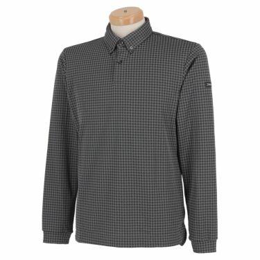 タイトリスト Titleist メンズ 千鳥格子柄 長袖 ボタンダウン ポロシャツ TWMC2102 2021年モデル ブラック(BK)