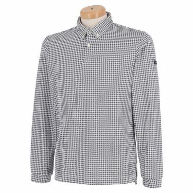 タイトリスト Titleist メンズ 千鳥格子柄 長袖 ボタンダウン ポロシャツ TWMC2102 2021年モデル ネイビー(NV)