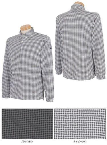 タイトリスト Titleist メンズ 千鳥格子柄 長袖 ボタンダウン ポロシャツ TWMC2102 2021年モデル 詳細3