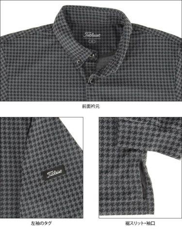 タイトリスト Titleist メンズ 千鳥格子柄 長袖 ボタンダウン ポロシャツ TWMC2102 2021年モデル 詳細4