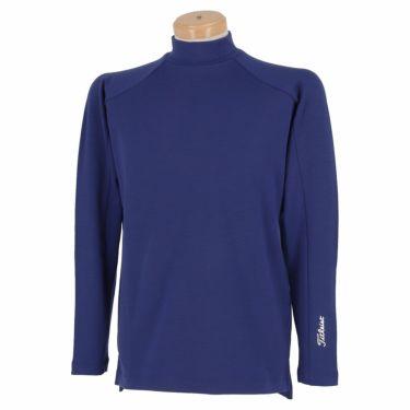 タイトリスト Titleist メンズ ロゴプリント ウール混 裏起毛 長袖 モックネックシャツ TWMC2106 2021年モデル ロイヤルブルー(RB)