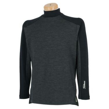 タイトリスト Titleist メンズ ロゴプリント ウール混 裏起毛 長袖 モックネックシャツ TWMC2106 2021年モデル 詳細2