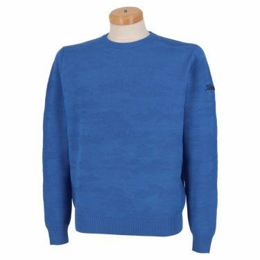 タイトリスト Titleist メンズ カモフラージュ柄 ジャカード 長袖 クルーネック セーター TWMK2170 2021年モデル ブルー(BL)